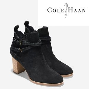 🆕COLE HAAN Bootie Cork Heel Fashion Ankle Boot